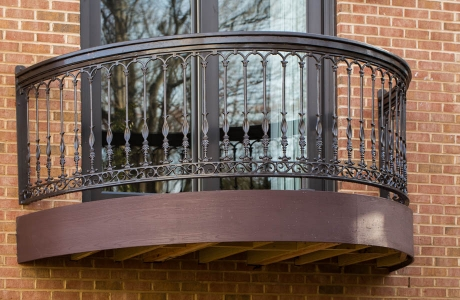 Azek deck and iron railing