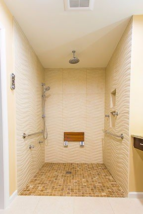 Large bathroom shower