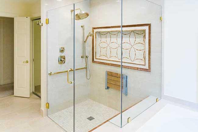 bathroom remodel, bathroom remodeling, tile shower, shower niche